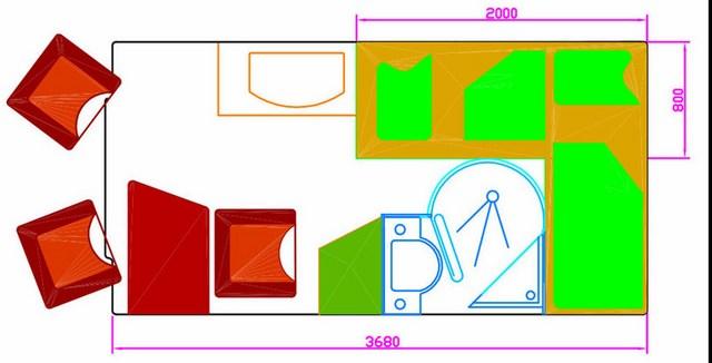 grundriss kastenwagen einzelbetten campingbus - Wohnmobil Dusche Einbauen